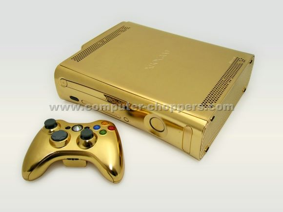 24kt Gold Xbox 360 by Computer Choppers2 - Luxuryes
