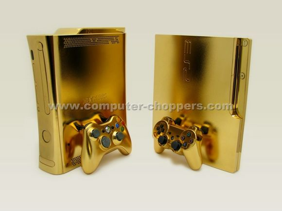 24kt Gold Xbox 360 by Computer Choppers3 - Luxuryes