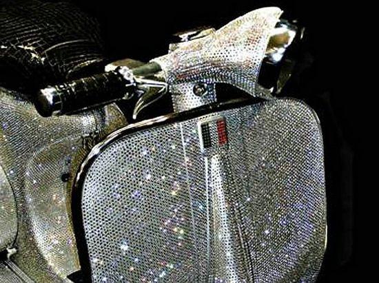 Vespa covered with 150,000 Swarovski Crystals
