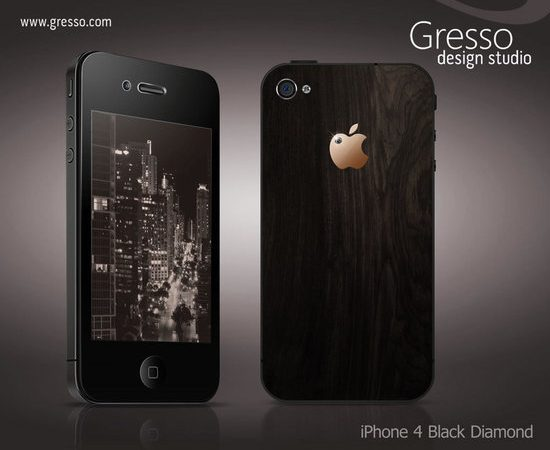 Gresso's new iPhone 4 Black Diamond solves 'death grip' in style