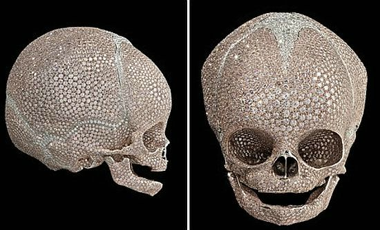 For Heaven S Sake Blinged Baby Skull By Damien Hirst