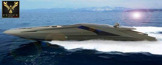 Lambo style Yacht by Fenice Milano & T.I.C. Italian Style