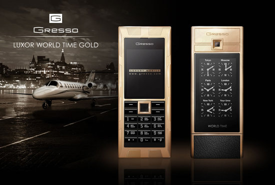 Gresso Unveils the $30000 Luxor World Time Golden Phone
