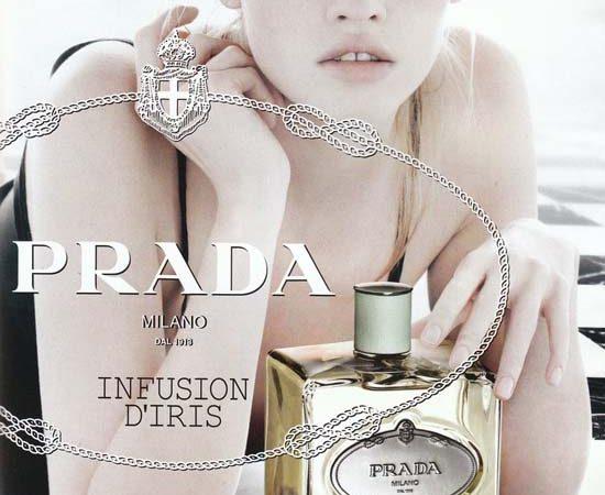 Lara Stone for Prada Infusion D'Iris Fragrance