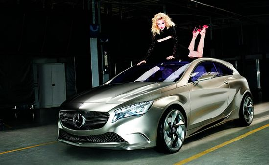 Jessica Stam for Mercedes-Benz Concept A-CLASS Campaign