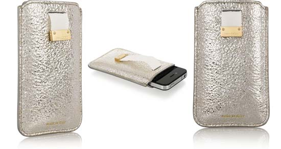 Metallic Leather iPhone Case by Jimmy Choo