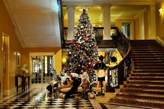 Claridge's Christmas Tree by Alber Elbaz for Lanvin