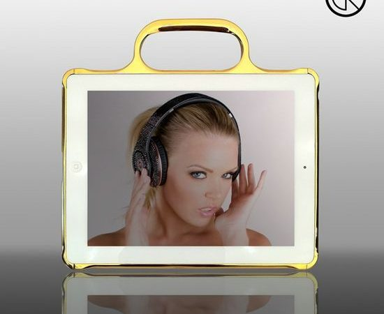 Ipad2 24k Gold & Chrome Bumper by Crystal Rocked