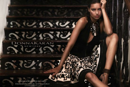 Adriana Lima for DKNY Spring 2012 Campaign
