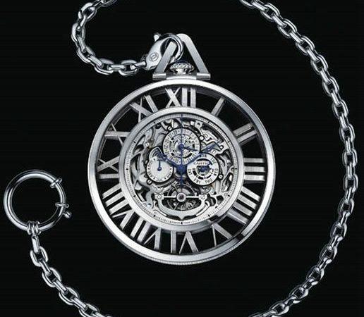 Cartier Pocket Watch Skeleton Grande Complication