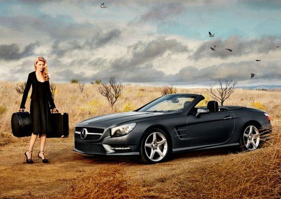 Mercedes 2013 SL Roadster x Lara Stone x Calvin Klein