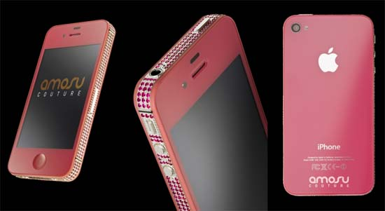 Pink iPhone 4S by Amosu Couture