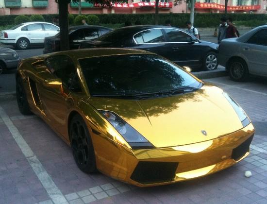 Lamborghini Gallardo in Gold Spotted in Beijing