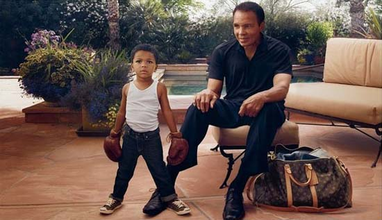 New Louis Vuitton Ad Features Muhammad Ali and His Grandson