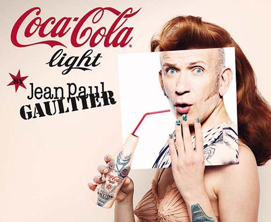 Jean Paul Gaultier's Tattoo Bottle for Diet Coke