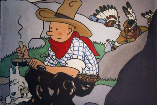 Tintin Comic Book Cover Fetches $1.6M At Auction