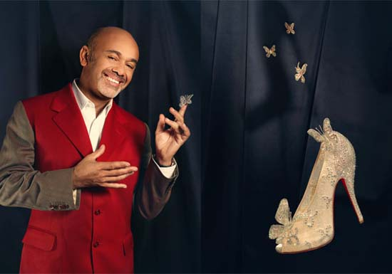 Christian Louboutin Re-Creates Cinderella's Glass Slipper