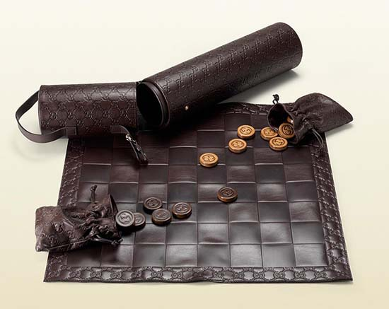Gucci Leather Checkers Set