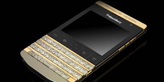 Goldgenie blings out Porsche Design P'9981 BlackBerry