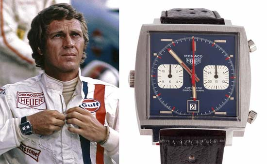 tag heuer watch worn by steve mcqueen in le mans auctioned for nearly 800000 luxuryes. Black Bedroom Furniture Sets. Home Design Ideas