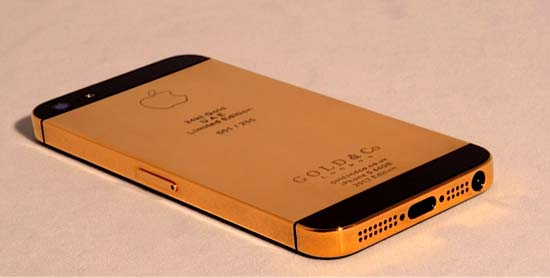 World's First 24kt Gold iPhone 5