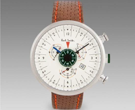 Paul Smith Cream Cycle Eyes Chronograph Watch