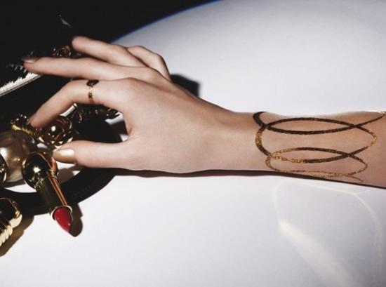 Dior Creates Temporary Tattoos Made Of 24K Gold