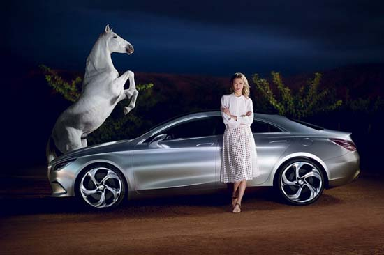 Karlie Kloss for Mercedes-Benz Fashion F/W 2013 Campaign