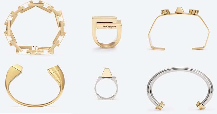 Saint Laurent Vermeil Jewelry Collection