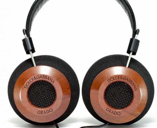 Dolce & Gabbana Mahogany Wood Headphones by Grado Labs