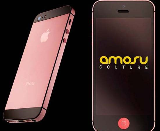 The world's first pink Apple iPhone 5 by Amosu Couture