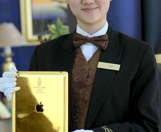 Burj Al Arab in Dubai Launches 24-Carat Gold iPads in Every Suite