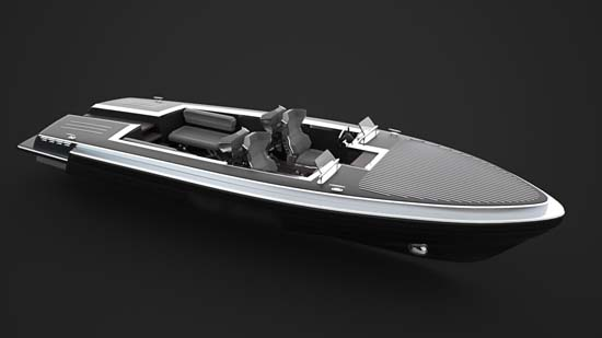 Pinstripe Yacht Tender by Gray Design