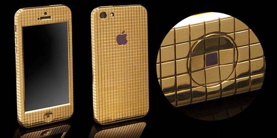 Diamond studded gold iPhone 5 by Goldgenie