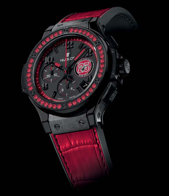 Hublot 25 anniversary heat watch, limited edition hublot