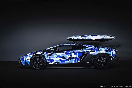 BAPE x Lamborghini Arctic Camo Aventador with Ski Box
