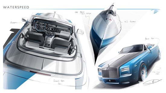 Rolls-Royce Previews Phantom Drophead Coupe Bespoke Waterspeed Collection