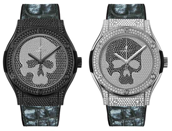 Hublot Introduces the Classic Fusion Skull Pavé