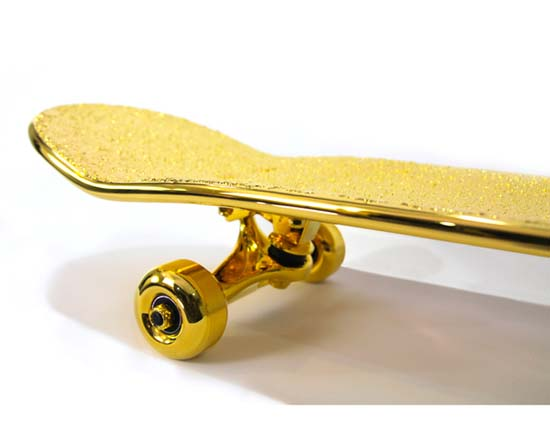 $15,000 USD Gold-Plated Skateboard By SHUT • Luxuryes