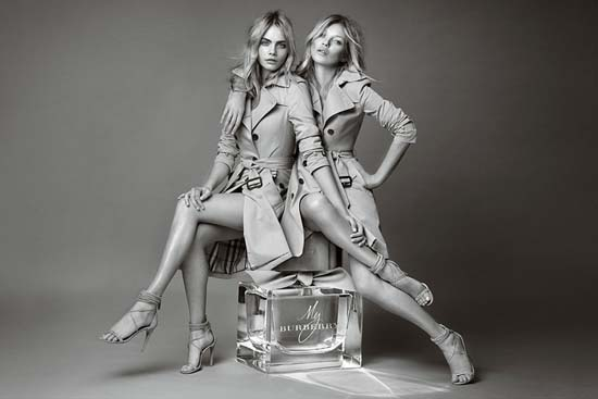 Kate Moss And Cara Delevingne for My Burberry Fragrance Ad