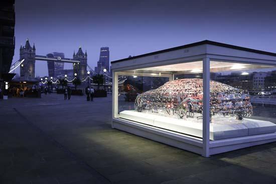 Jaguar XE Word Cloud Sculpture Unveiled in London