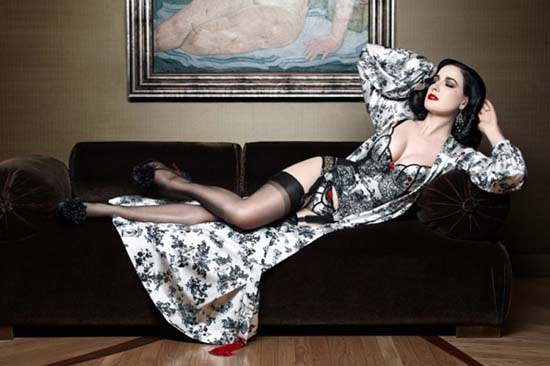 Christian Louboutin x Dita Von Teese Luxury Lingerie Collection