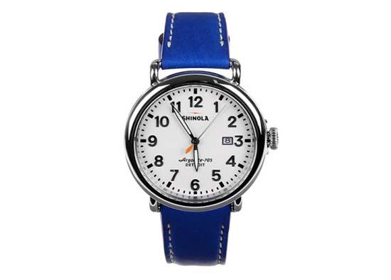 colette x Shinola Limited Edition Blue Runwell Watch
