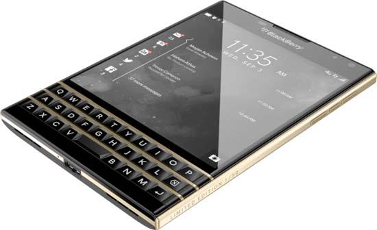 BlackBerry Passport Black & Gold Limited Edition