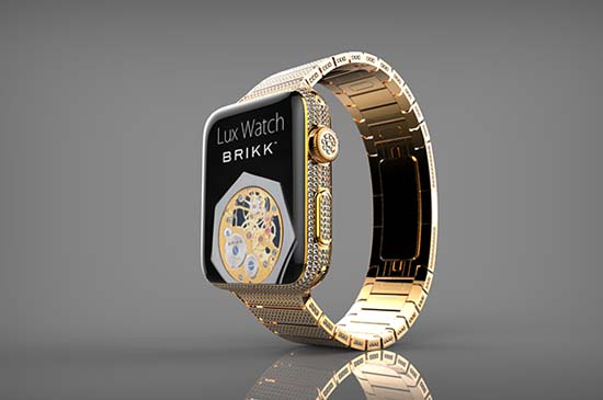 Brikk Announces a $75,000 Diamond-Encrusted Apple Watch