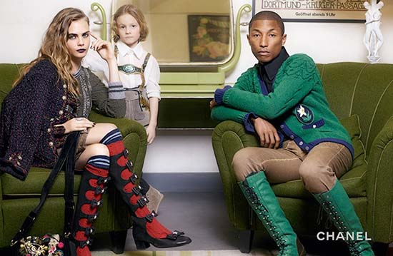 Pharrell Williams x Cara Delevingne for Chanel Paris-Salzburg 2015 Campaign
