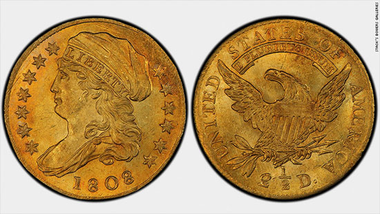 1808 Quarter Eagle Gold Coin Fetches $2.35 Million At Auction