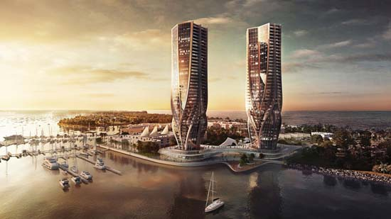 Zaha Hadid Designs Two Sculptural Towers for Gold Coast