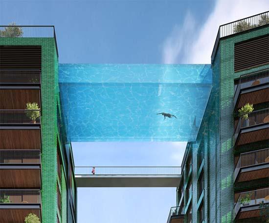Amazing Glass Bottomed Swimming Pool Will Bridge Two