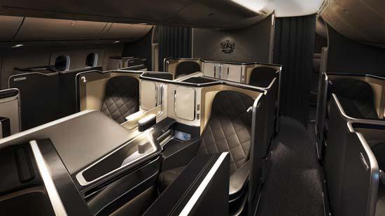 British Airways unveils its new first class cabin on Dreamliner 787-9
